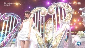 [大水怪] 柏木由紀 - Birthday wedding (Music Station 2013.09.27).ts - 00006
