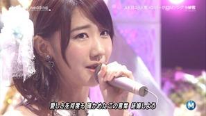 [大水怪] 柏木由紀 - Birthday wedding (Music Station 2013.09.27).ts - 00009