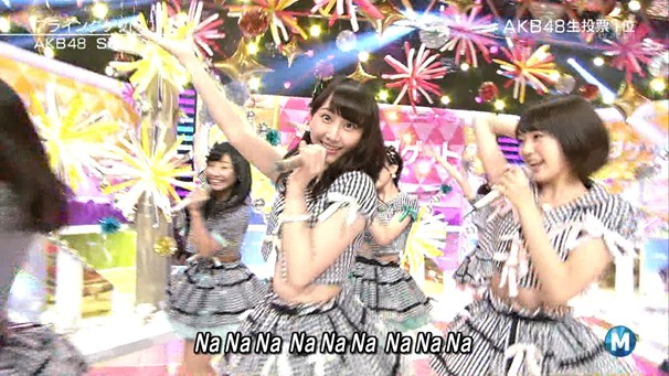 AKB48 - Labrador Retriever   Flying Get (Music Station 2014.06.27).ts - 00069