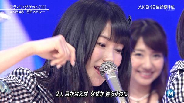 AKB48 - Labrador Retriever   Flying Get (Music Station 2014.06.27).ts - 00096