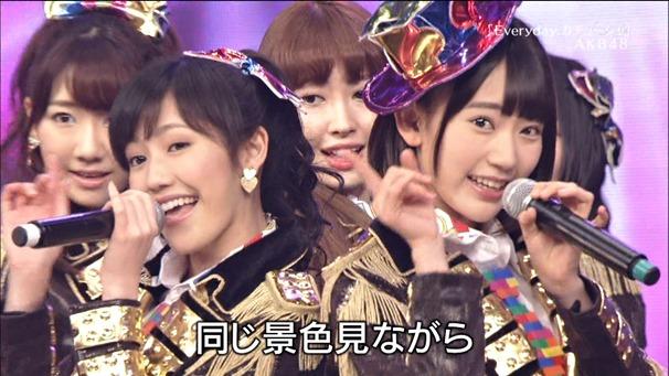 AKB48, SKE48, NMB48 & Nogizaka46 - Heavy Rotation, Everyday Katyusha, Flying Get, Mirai to wa, Ibiza Girl, Natsu no Free & Easy (TV Tokyo Ongakusai 140626).ts - 00028