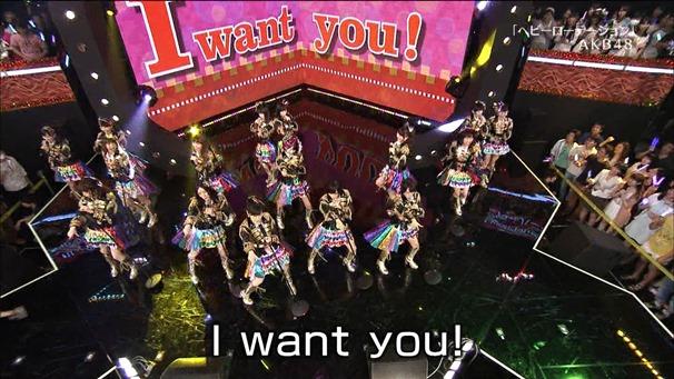 AKB48, SKE48, NMB48 & Nogizaka46 - Heavy Rotation, Everyday Katyusha, Flying Get, Mirai to wa, Ibiza Girl, Natsu no Free & Easy (TV Tokyo Ongakusai 140626).ts - 00015
