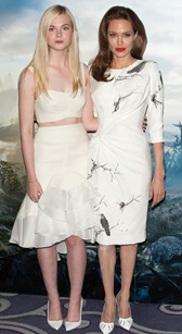 'Maleficient' photocall held at the Corinthia Hotel.  Featuring: Angelina Jolie,Elle Fanning Where: London, United Kingdom When: 09 May 2014 Credit: Daniel Deme/WENN.com