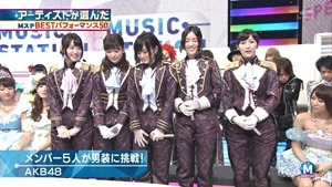 AKB48 - RIVER   Flying Get   Kokoro no Placard   Talk (Music Station SP 140926).ts - 00026