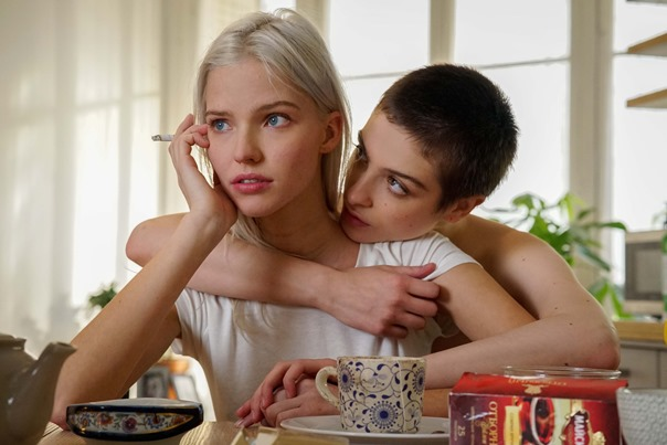 Anna (Sasha Luss, left) and Maud (Lera Above, right) in ANNA.