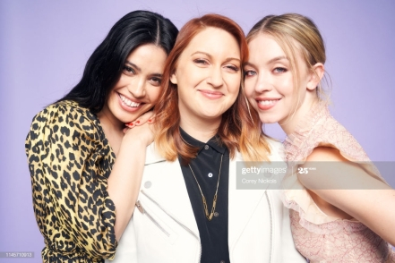 NEW YORK, NEW YORK - APRIL 28: Otmara Marrero, Lara Jean Gallagher and Sydney Sweeney of film 'Clementine' pose for a portrait during the 2019 Tribeca Film Festival at Spring Studio on April 28, 2019 in New York City. (Photo by Corey Nickols/Contour by Getty Images)