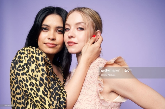 NEW YORK, NEW YORK - APRIL 28: Otmara Marrero and Sydney Sweeney of the film 'Clementine' pose for a portrait during the 2019 Tribeca Film Festival at Spring Studio on April 28, 2019 in New York City. (Photo by Corey Nickols/Contour by Getty Images)